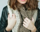 Digital Download of our Quick and Easy CROCHET PATTERN for Tri-Colored Cowl Infinity Scarf