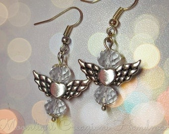 Angel Earrings with swarovski crystal