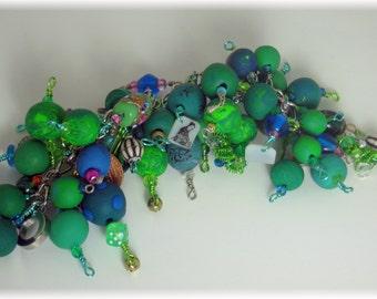 Steampunk Circus Green Fairy Charm Bracelet
