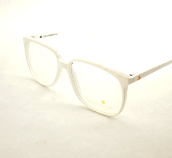 White Eyeglasses Big Square Chalky White or Icy by DontUWantMe