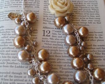 Swarovski Crystal and Pearl Flower Necklace