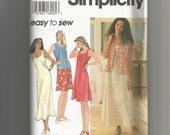 Simplicity pattern 7129 Misses Dress and Vest size L-XL