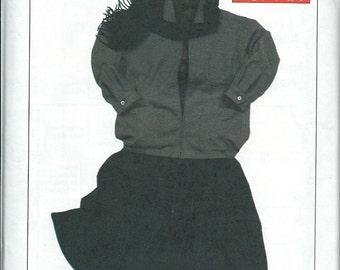 ESPRIT Misses Gored Skirt and Oversized Jacket Pattern, Simplicity 6978, Med UNCUT