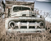 Rustic Photography, Wall Art Print, Vintage Ford Truck Picture, Farmhouse Decor, Car Art  | 'The Gray Ghost'
