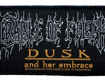 "SS ""Cradle of Filth Dusk and Her Embrace"" Metal Band Music Sew On Applique Patch"
