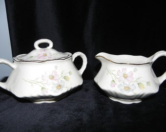 Vintage Homer Laughlin Cream and Sugar Set