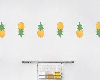 Mini Pineapples Printed Wall Decal