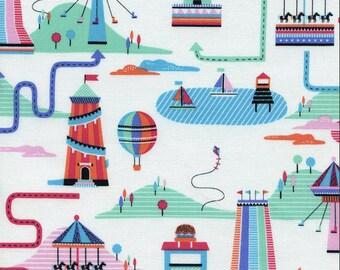 Mini Carnival Fun - 1 Yard  Cut - Timeless Treasure - Cotton Fabric - Novelty Fabric -Carnival  Fabric - Mini Carnival