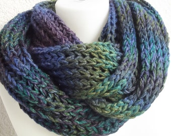 Knit cowl knit scarves knit neck warmer loop cowl Loop Scarves accessories  knitted scarf