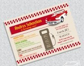 classic car party invitation FILE ONLY