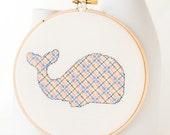Cross Stitch Pattern PDF - Plaid Whale