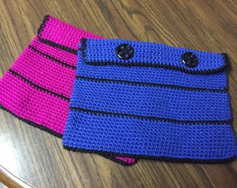 Crocheted ipad or tablet cases