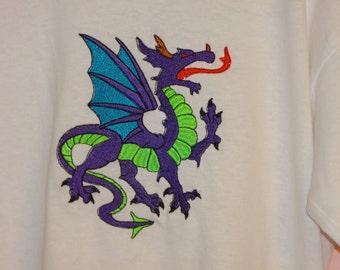 embroidered dragon shirt