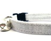 Cat Collar, PLATINUM, Small Dog Collar, Handmade