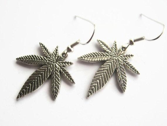 pot leaf earrings marijuana earrings marijuana