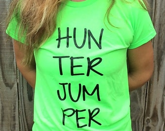 HUNTER JUMPER Horse Juniors' Equestrian T-Shirt