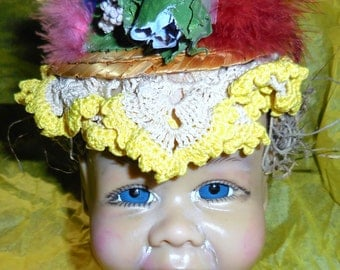 Vintage Creepy Doll Head....Inspiration ....Repurpose....Assemblage.....BA3