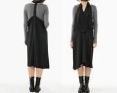 Black Dress Sexy Design Dress Blouse Collar Sun-top Pinafore Dress