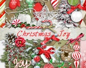 CHRISTMAS JOY - Digital Scrapbook Kit for scrapping, crafts or card making
