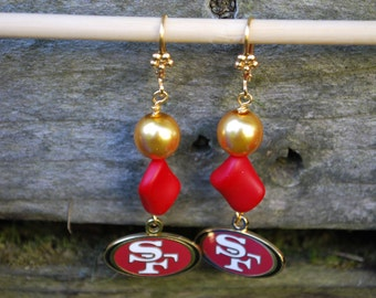 Sf 49er logo earrings