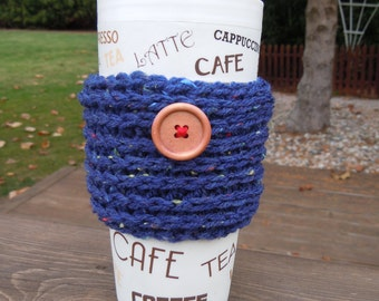 Hand crocheted  coffee cozy