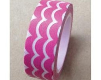 Pink Scallop Design Washi Tape