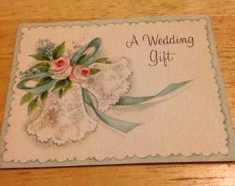 Antique Wedding Gift Card