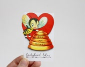 Vintage Valentine Laser Cut Wooden Brooch