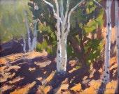 High Mountain Aspen Above Santa Fe - New Mexico - Original Oil Landscape Painting