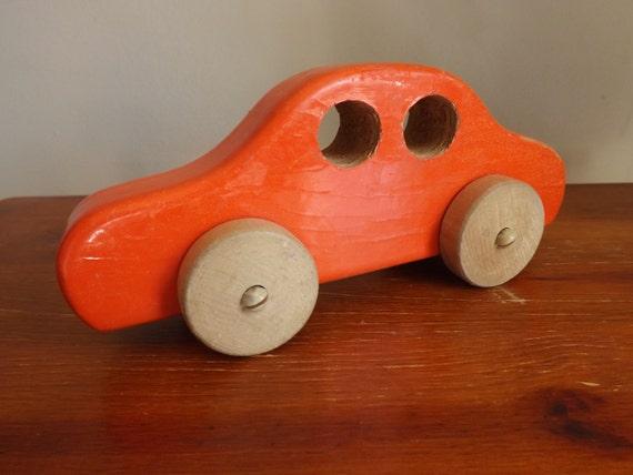 Baby Boy Toy Cars : Baby boy nursery vintage wood car retro toy by