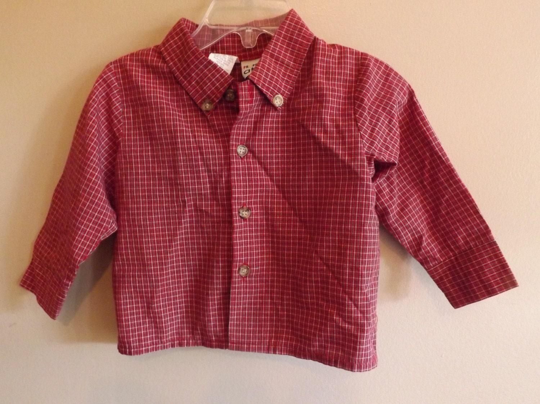 vintage clothes baby boys sleeve plaid button