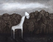 THE CHAIR - Signed Print from Artist's Original Painting Surrealism Stories Illustration Dreams