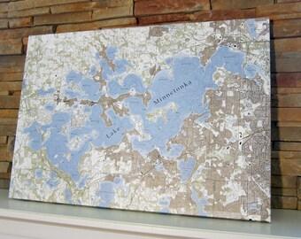 Lake Minnetonka - Canvas Lake Map (Standard Quality)