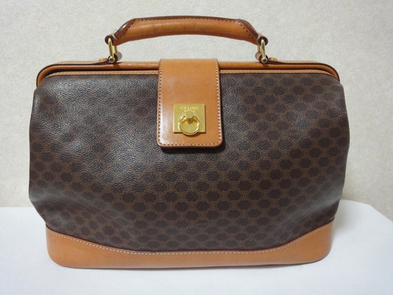 Vintage Celine brown macadam blaison doctor bag with by eNdApPi