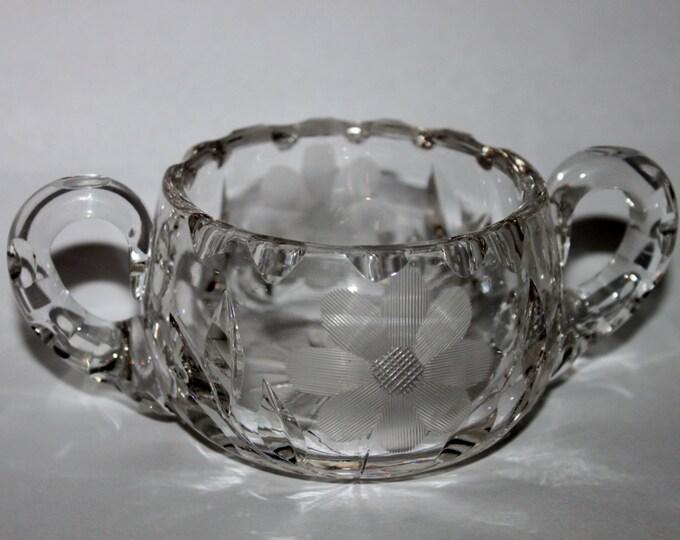 Vintage Lead Crystal Sugar Bowl