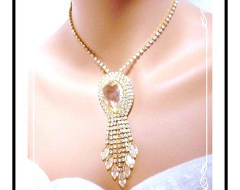 Icy Clear Rhinestone Necklace - Fantastic Lush Icy Clear Rhinestone Necklace  Neck-1126a-022811000
