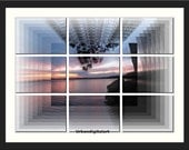Sunset At Lake Catchacoma 2-LOW COST  Downloadable Art Print-Abstract Art Print-Will Look Great At Home Or Office Wall