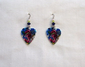 70's Art Guitar Pick Earrings