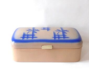 art deco enamel bread box