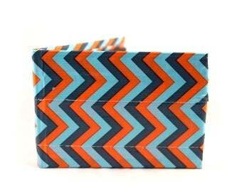 Blue Chevron Duct Tape Wallet