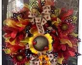 Ladybug mesh Wreath,Spring Wreath,Summer wreath