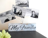 SALE - My Family Photo Blocks for Pictures Grreeting Cards or Recipe cards - IN STOCK
