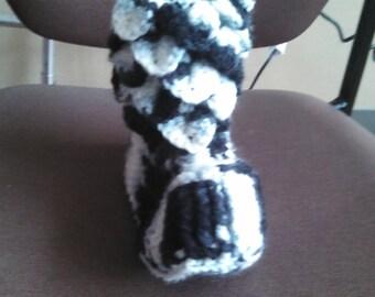 zebra crocodile stitch slippers