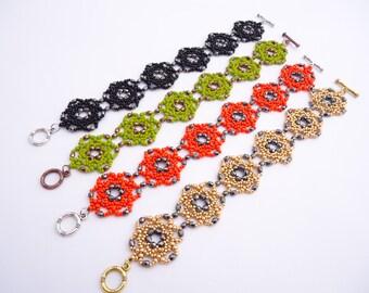 Rosetta Bracelets - Czech Beads - Seed and Firepolish