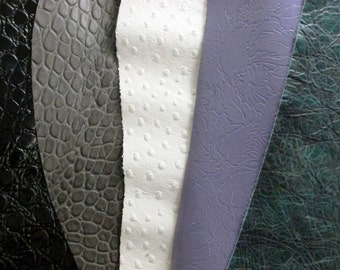 Chunk of Leather - Genuine High Embossed Printed Leathers