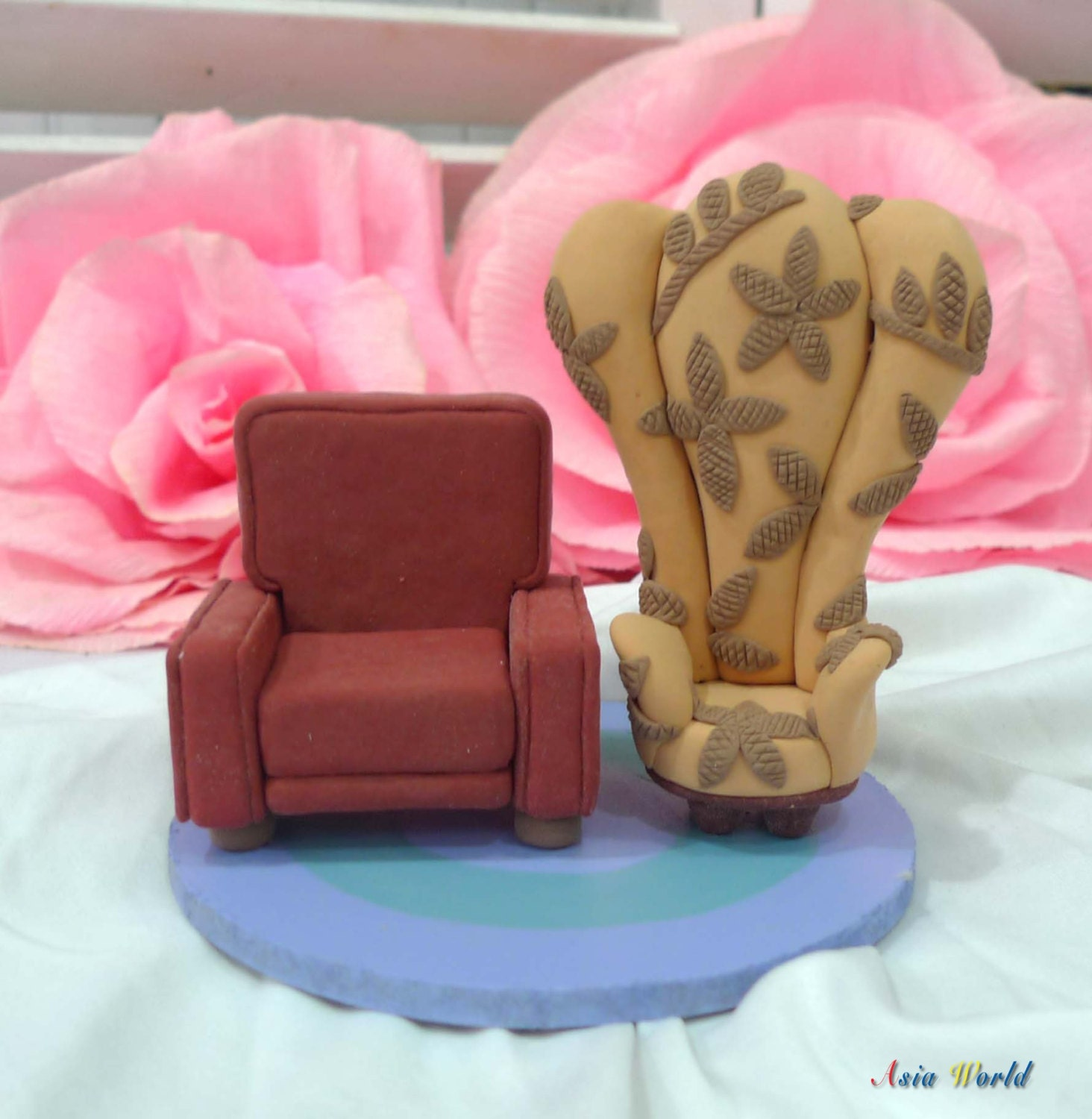 Up Chairs Cake Topper