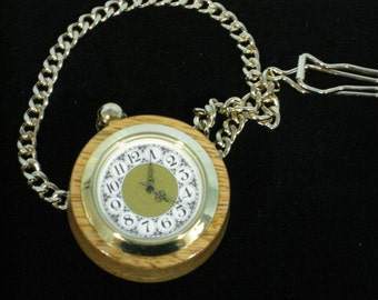 Wooden Pocket Watch made from Mango Wood FREE SHIPPING