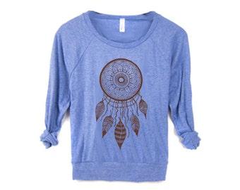 WOMEN DREAMCATCHER Screen Print Top American Alternative apparel long sleeve S M L XL More Colors