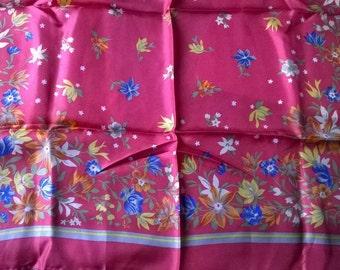 Anne Klein Pink Silk Scarf