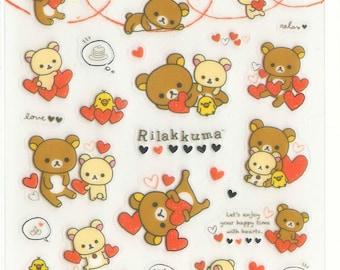 Kawaii Japan Sticker Sheet Assort: Rilakkuma Heart Series SE20501 by San-x Rare Stickers for Diy decoration Planner Schedule Book R